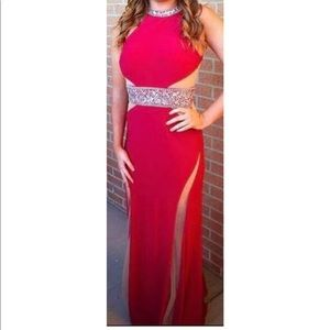 Dresses & Skirts - long red/coral prom dress/evening gown